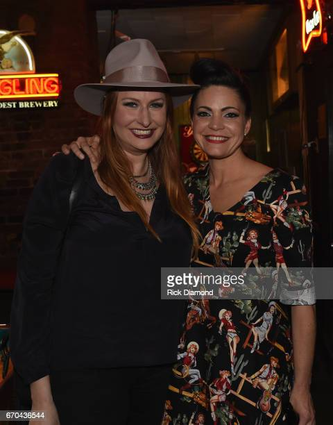 Hilary Williams joins Angaleena Presley at Angaleena 'Wrangled' Album Release event at Springwater on April 19 2017 in Nashville Tennessee