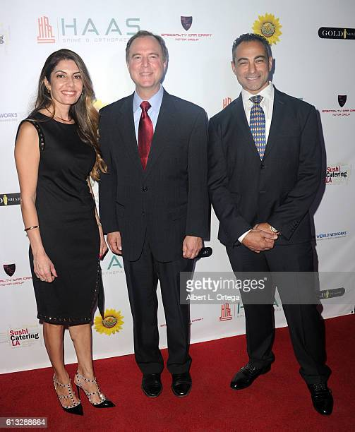 Hilda Kasimian congressman Adam Schiff and Dr Stepan Kasimian attend the HAAS Spine And Orthopaedics Official Opening Reception held at HAAS Spine...