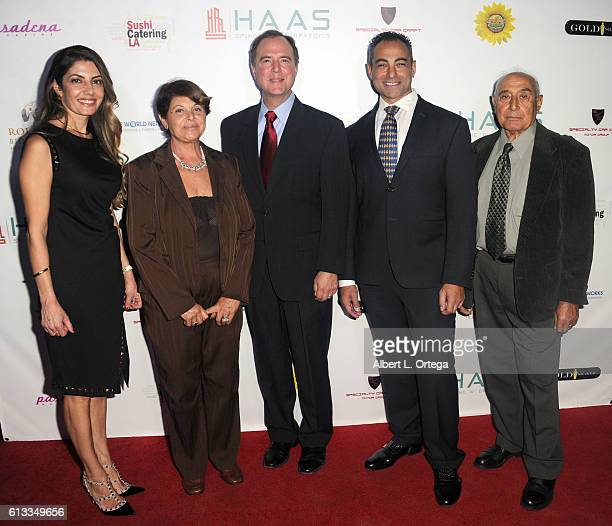 Hilda Kasimian congressman Adam Schiff and Dr Stepan Kasimian with guests attend the HAAS Spine And Orthopaedics Official Opening Reception held at...