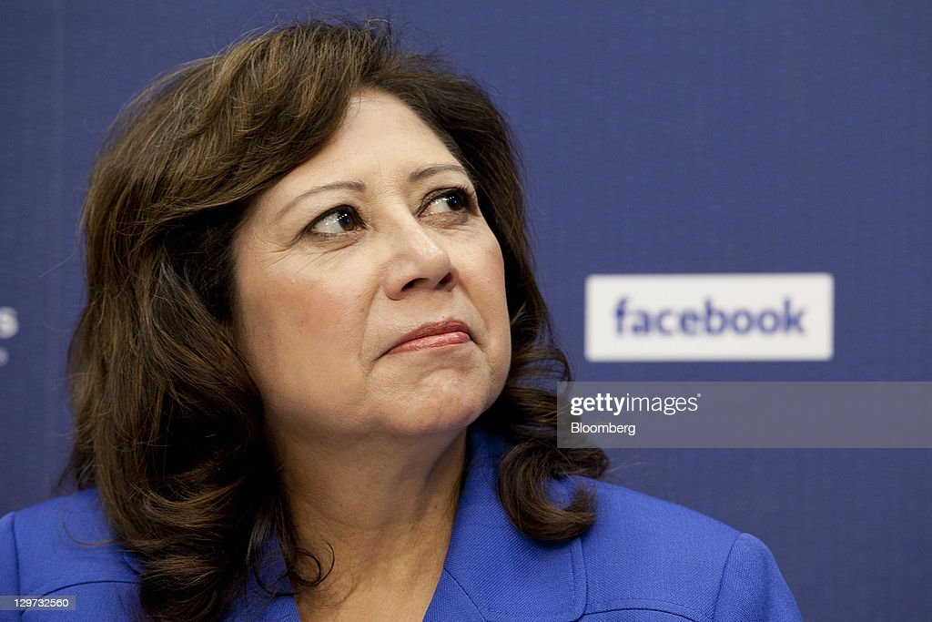 Hilda Solis US secretary of labor listens during a news conference at the Department of Labor in Washington DC US on Thursday Oct 20 2011 Facebook...