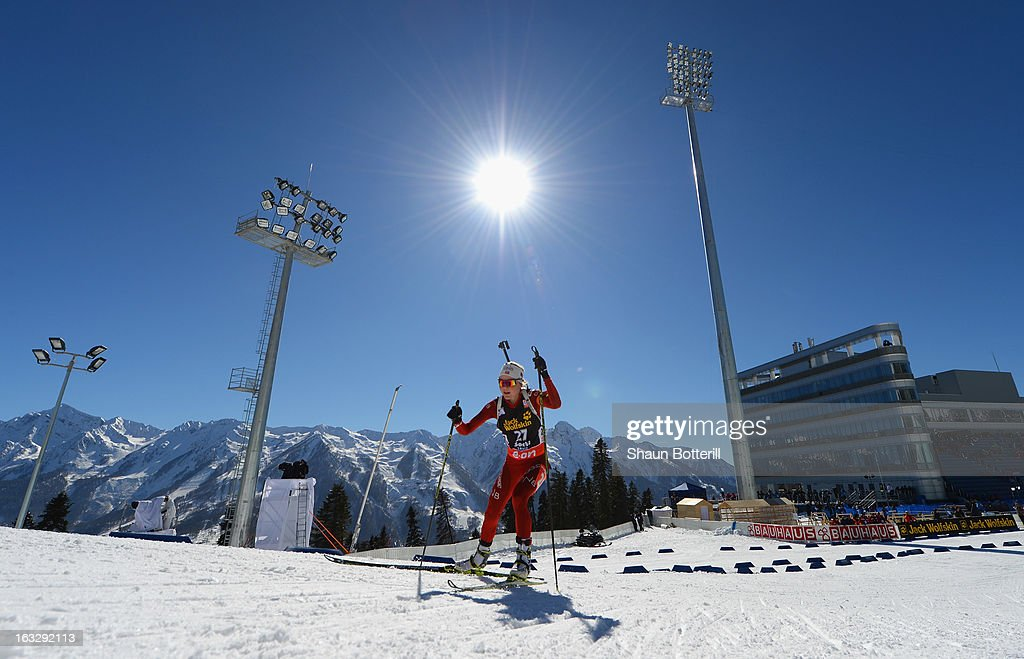 Hilde Fenne of Norway competes in the Women's 15km Individual Event during the E. ON IBU Biathlon World Cup at the 'Laura' Biathlon & Ski Complex on March 7, 2013 in Sochi, Russia.