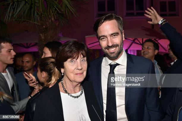 Hildegard Gsponer and her son Alain Gsponer during the 'Jugend ohne Gott' premiere party at H'Ugo's on August 21 2017 in Munich Germany