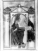 Hildegard of BingenHildegard von Bingen Mystikerin Benediktinerin Kirchenheilige D Verklärung der Hildegard zeitgenössische Miniatur