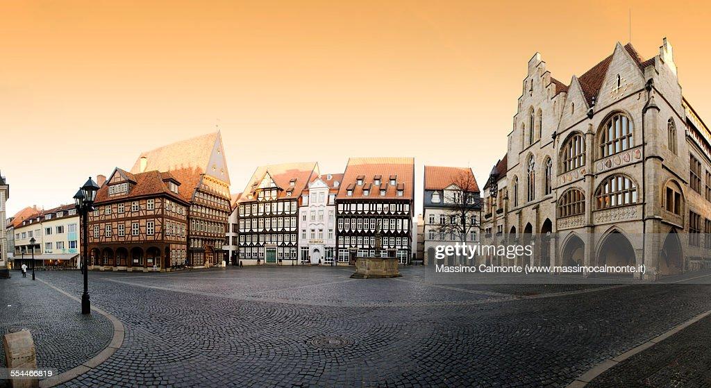 Hildesheim city center panorama