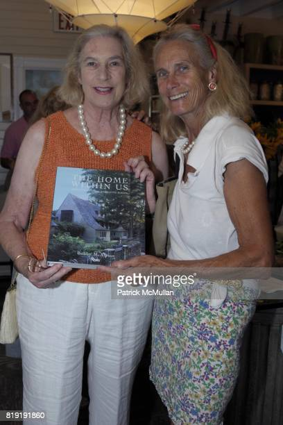 Hilge Hurford and Janice CohenSharp attend Bobby McAlpine Book Signing at Mecox Gardens on July 15 2010 in Southampton NY