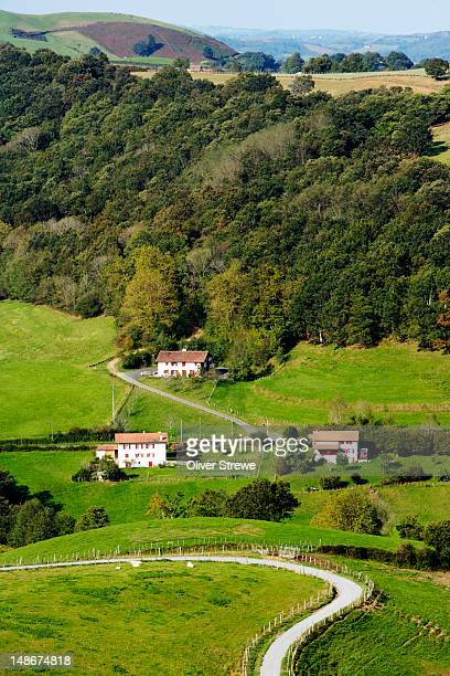 Hill farms near Espelette.