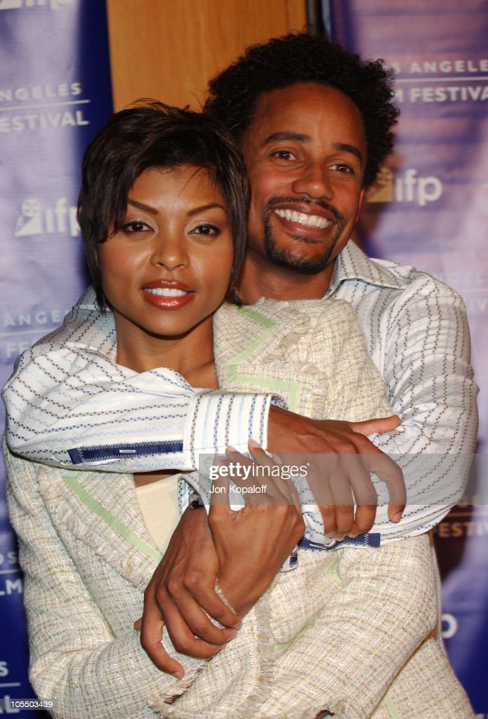 Hill Harper and Taraji Henson during 2004 Los Angeles Film Festival 'Fahrenheit 9/11' Special Screening at Directors Guild Theatre in West Hollywood...