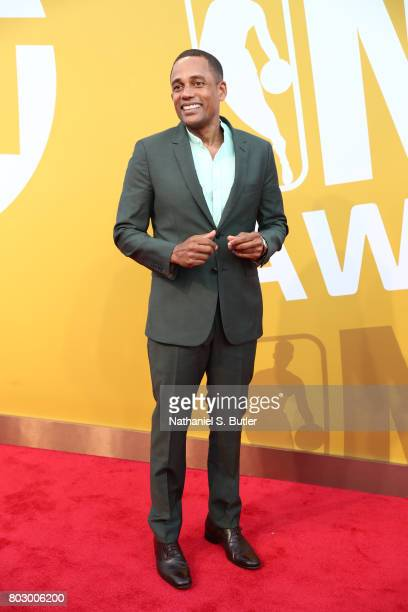 Hill Harper arrives at the red carpet at the NBA Awards Show on June 26 2017 at Basketball City at Pier 36 in New York City New York NOTE TO USER...