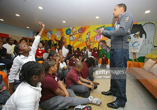 Hill Harper discusses empowerment financial literacy at The Fishing School on March 15 2010 in Washington DC