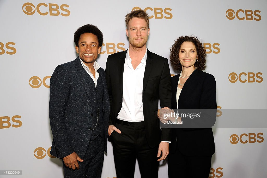Hill Harper Jake McDorman and Mary Elizabeth Mastrantonio attend the 2015 CBS Upfront at The Tent at Lincoln Center on May 13 2015 in New York City