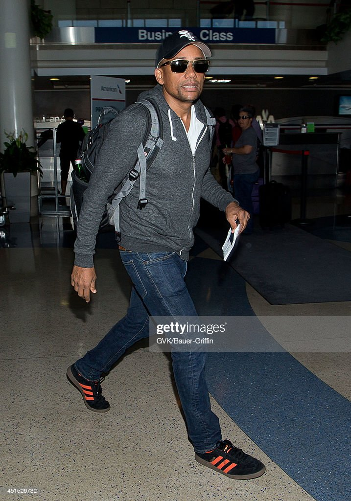Hill Harper seen at LAX on June 30 2014 in Los Angeles California