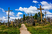 A path in the Hill of Crosses in northern Lithuania