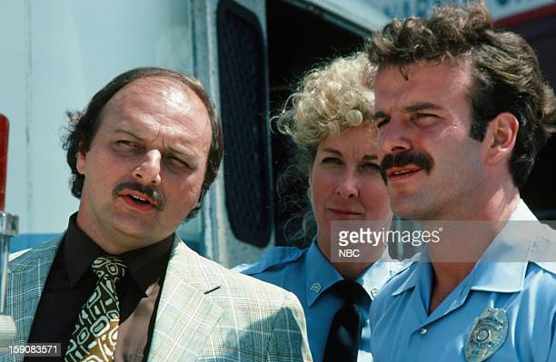 Hill Street Blues 'Say Uncle' Episode 6 Pictured Dennis Franz as Lt Norman Buntz Betty Thomas as Sgt Lucille Bates Robert Clohessy as Officer Patrick...
