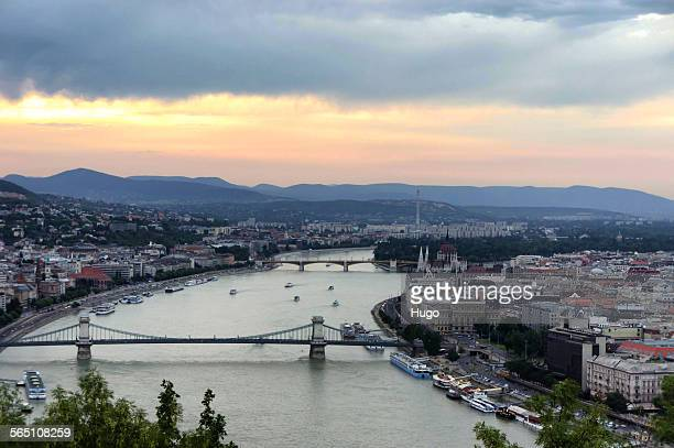 Hill view of Budapest
