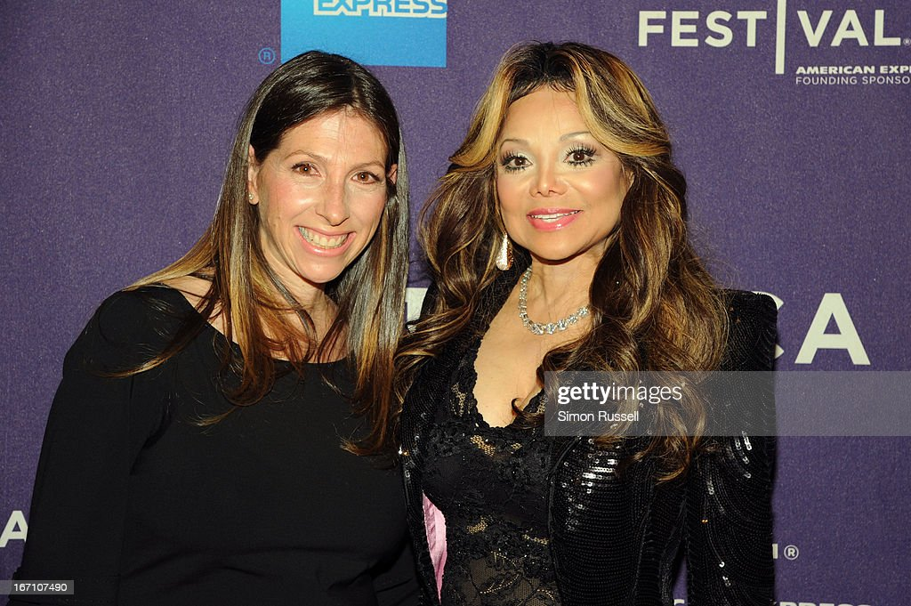 Hilla Medalia and La Toya Jackson attend the 'Dancing In Jaffa' World Premiere at the AMC Loews Village 7 during the 2013 Tribeca Film Festival on April 20, 2013 in New York City.