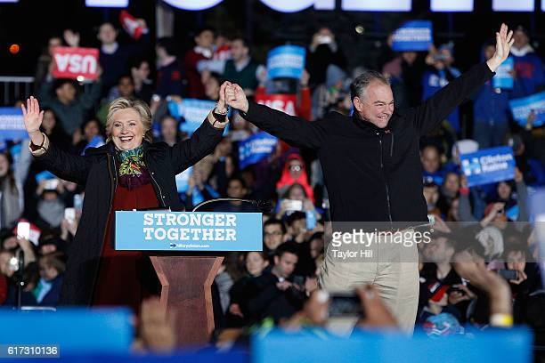 Hillary Clinton and Tim Kaine campaign for President of the United States and VicePresident of the United States at University of Pennsylvania on...