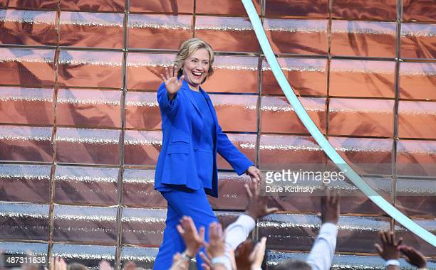 Hillary Clinton appears at 'The Ellen Degeneres Show' Season 13 BiCoastal Premiere at Rockefeller Center on September 8 2015 in New York City