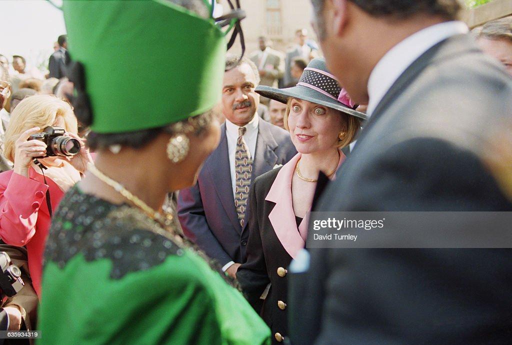 Hillary Clinton at Nelson Mandela's Inauguration