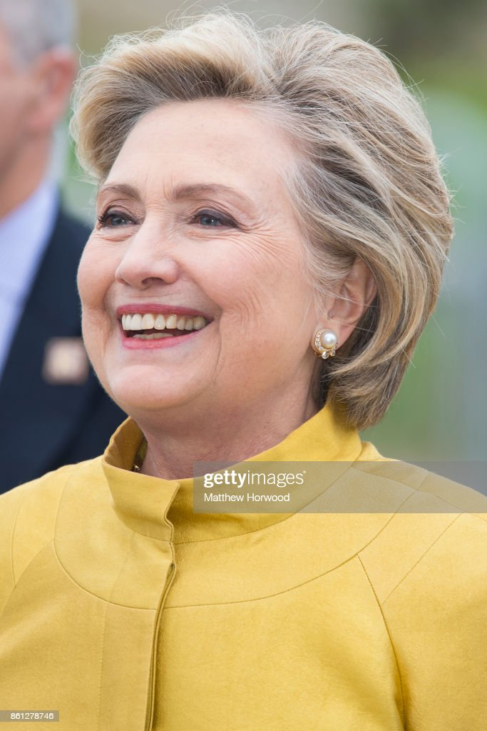 Hillary Clinton at Swansea University where she was given a Honorary Doctorate of Laws on October 14, 2017 in Swansea, Wales. The former US secretary of state and 2016 American presidential candidate is also visiting the UK to promote her new book 'What Happened'.
