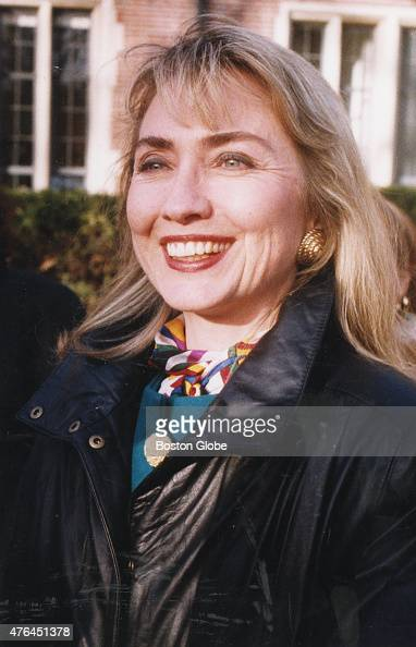 Hillary Clinton at Wellesley College her alma mater in Wellesley Mass on Feb 3 1992