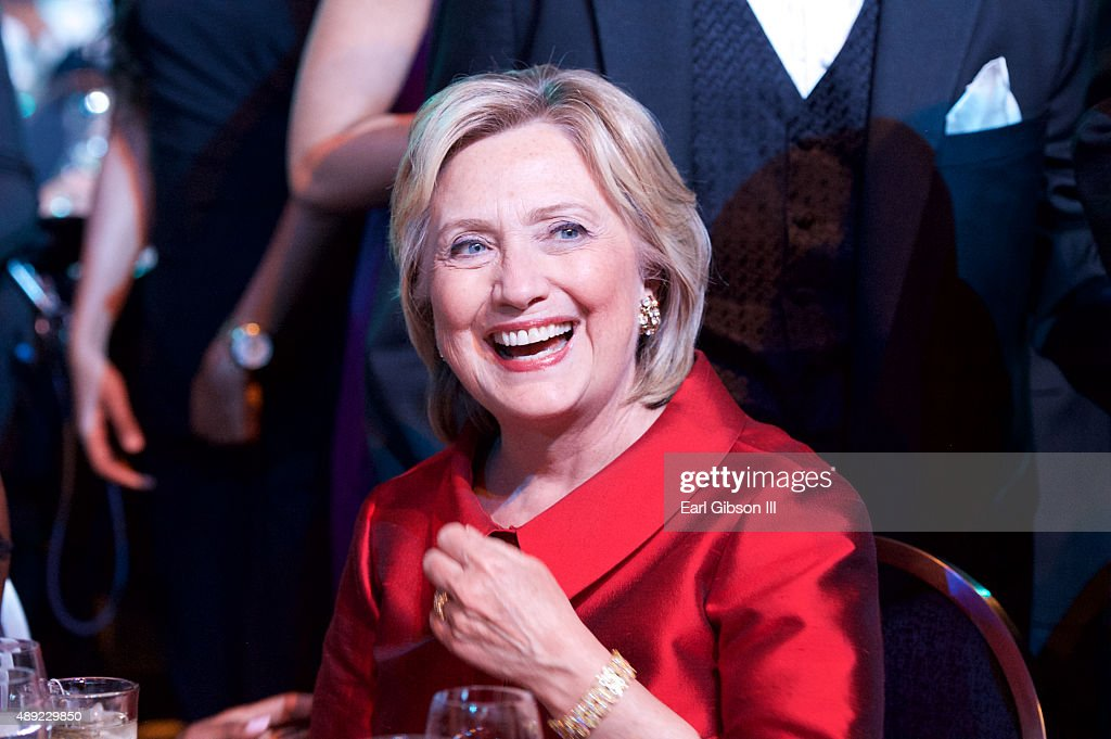 Hillary Clinton attends the Phoenix Awards Dinner at the 45th Annual Legislative Black Caucus Foundation Conference at Walter E. Washington Convention Center on September 19, 2015 in Washington, DC.