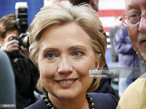 NBC NEWS Hillary Clinton Campaign Pictured Senator Hillary Clinton during her campaign for the Democratic Presidential nomination in Clairsville OH...