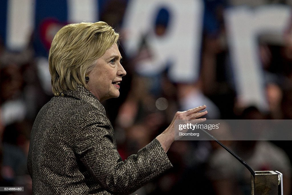 Hillary Clinton former Secretary of State and 2016 Democratic presidential candidate speaks during an election night event at the Philadelphia...