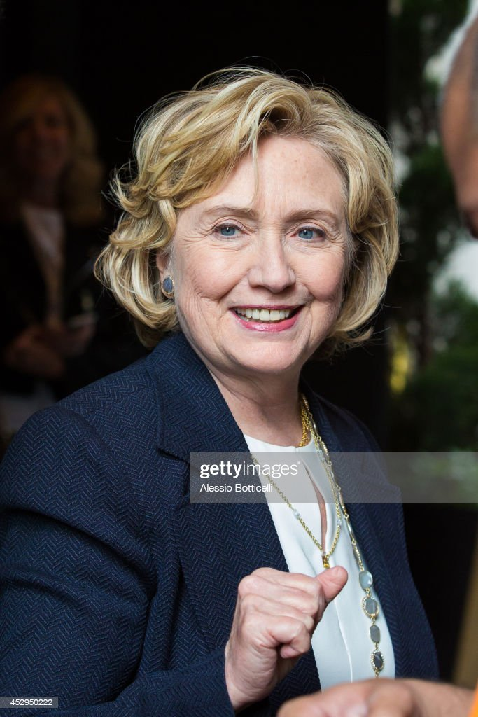 Hillary Clinton is seen arriving at The Carlyle Hotel on July 30, 2014 in New York City.