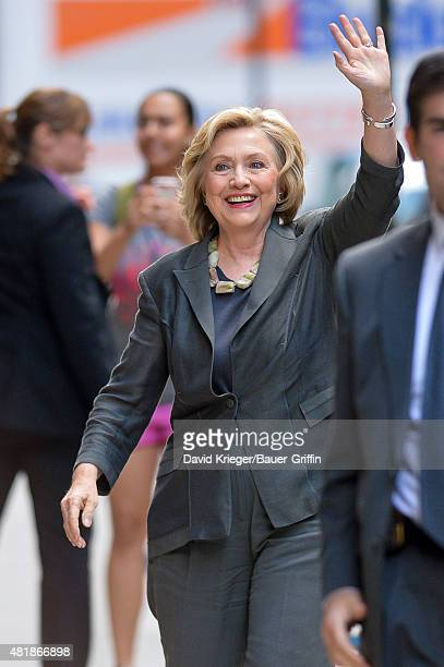 Hillary Clinton is seen at New York University on July 24 2015 in New York City