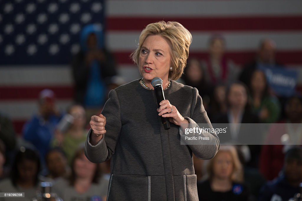 <a gi-track='captionPersonalityLinkClicked' href=/galleries/search?phrase=Hillary+Clinton&family=editorial&specificpeople=76480 ng-click='$event.stopPropagation()'>Hillary Clinton</a> speaks at Hillary Town Hall with Congresswomen Yvette Clarke and First lady of New York City Chirlane McCray.