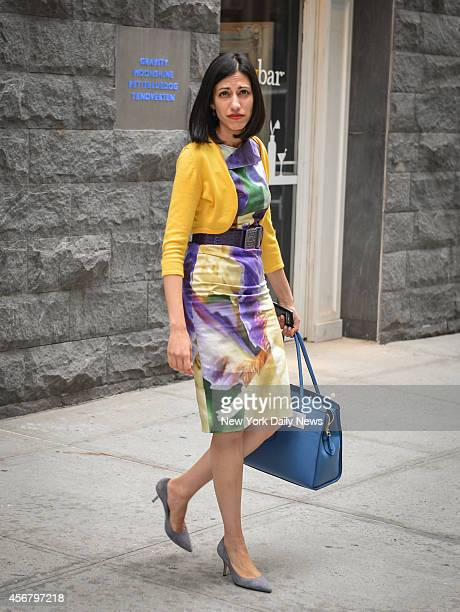 Hillary Clinton staffer Huma Abedin leaves Le Parker Meridien Hotel for a Democratic fundraiser located at 119 West 56th Street in Manhattan on...