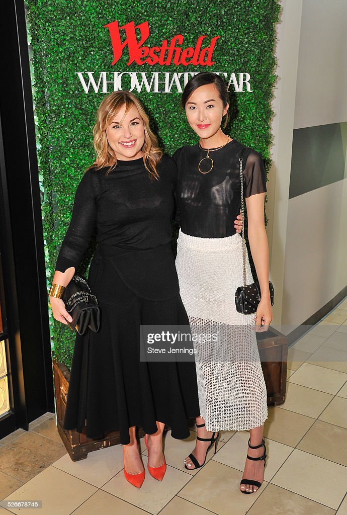 <a gi-track='captionPersonalityLinkClicked' href=/galleries/search?phrase=Hillary+Kerr&family=editorial&specificpeople=5767451 ng-click='$event.stopPropagation()'>Hillary Kerr</a> and blogger Chriselle Lim attend the Westfield x Who What Wear Presents: Boss Notes at Westfield Valley Fair event at Westfield Valley Fair on April 30, 2016 in Santa Clara, California.