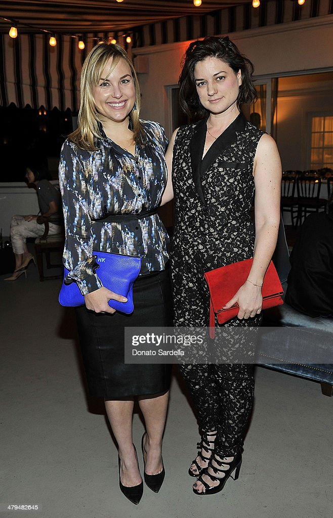Hillary Kerr and Ilaria Urbinati attend Eva Mendes Exclusively at New York & Company Spring launch dinner at Chateau Marmont on March 18, 2014 in Los Angeles, California.