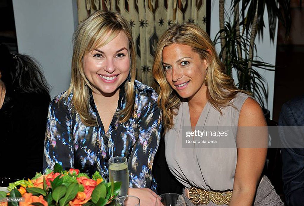 Hillary Kerr of Who What Wear and Marielle Gelber Director of Publicity of NY&C attend Eva Mendes Exclusively At New York & Company Spring Launch Dinners at Chateau Marmot on March 19, 2014 in Beverly Hills, California.
