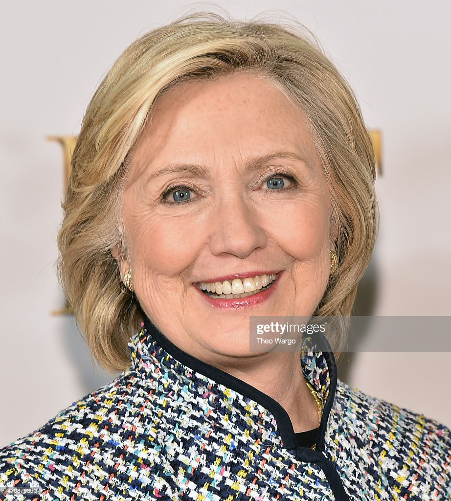 Hillary Rodham Clinton attends the 2015 DVF Awards at United Nations on April 23, 2015 in New York City.