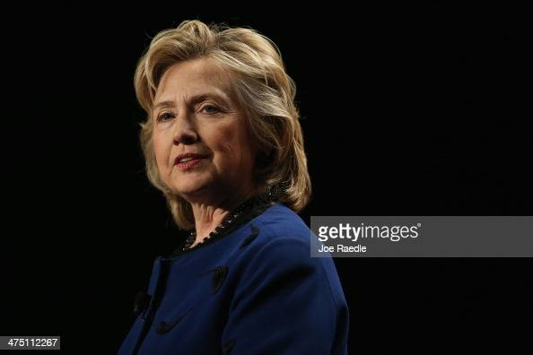 Hillary Rodham Clinton Former Secretary of State speaks during an event at the University of Miamis BankUnited Center on February 26 2014 in Coral...