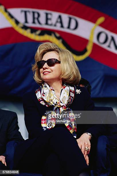 Hillary Rodham Clinton Listening at an Event