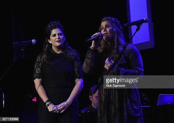 Hillary Scott and sister Rylee Scott The Scott Family perform during Sam's Place Music For The Spirit May 1 2016 at Ryman Auditorium in Nashville...
