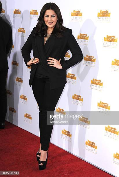 Hillary Scott arrives at the NBC And Time Inc 50th Anniversary Celebration Of Sports Illustrated Swimsuit Issue Hosted By Heidi Klum at Dolby Theatre...