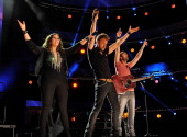 Hillary Scott Charles Kelley and Dave Haywood of Lady Antebellum performs during the 2012 CMA Music Festival on June 7 2012 in Nashville Tennessee