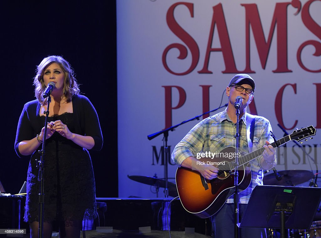 Hillary Scott Lady Antebellum and Steven Curtis Chapman rehearse at the first of six monthly concerts hosted by Steven Curtis Chapman, Sam's Place - Music For The Spirit at Ryman Auditorium on November 2, 2014 in Nashville, Tennessee.