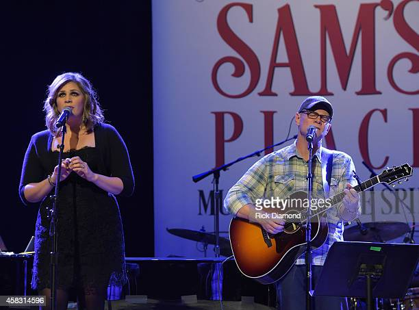 Hillary Scott Lady Antebellum and Steven Curtis Chapman rehearse at the first of six monthly concerts hosted by Steven Curtis Chapman Sam's Place...
