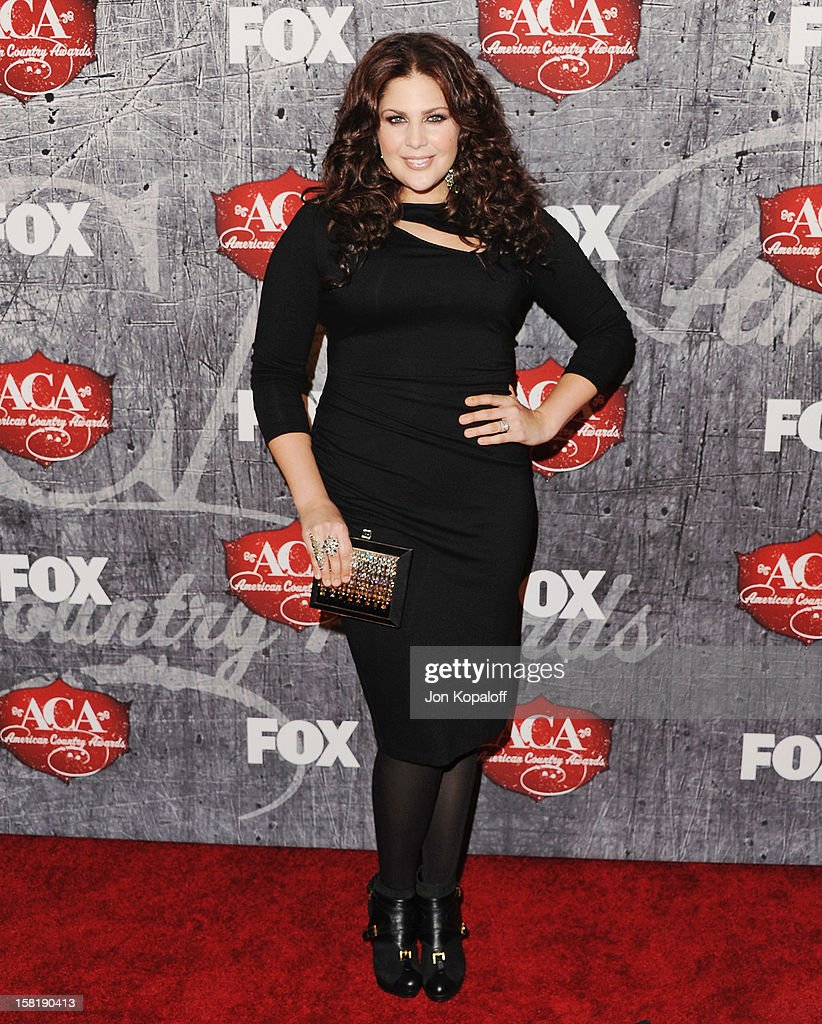 Hillary Scott of Lady Antebellum arrives at the 2012 American Country Awards at Mandalay Bay on December 10, 2012 in Las Vegas, Nevada.