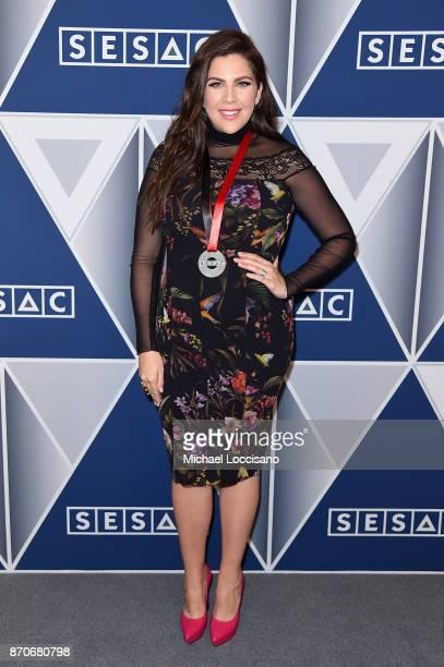 Hillary Scott of Lady Antebellum arrives at the 2017 SESAC Nashville Music Awards on November 5 2017 in Nashville Tennessee