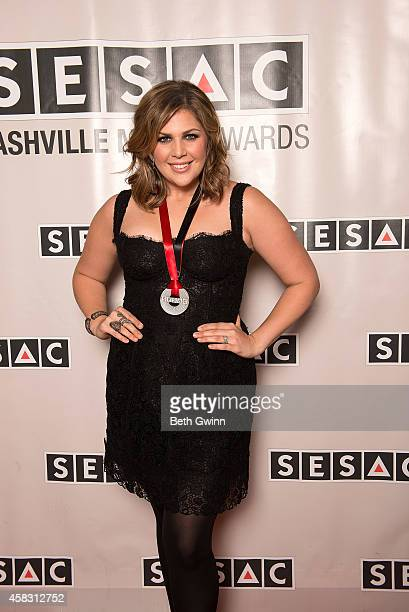 Hillary Scott of Lady Antebellum attends the 2014 SESAC Nashville Awards at the Country Music Hall of Fame and Museum on November 2 2014 in Nashville...