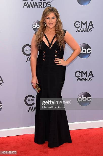 Hillary Scott of Lady Antebellum attends the 48th annual CMA Awards at the Bridgestone Arena on November 5 2014 in Nashville Tennessee