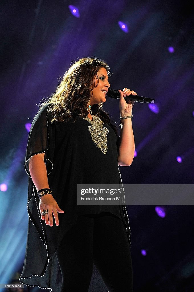 Hillary Scott of Lady Antebellum performs at LP Field during the 2013 CMA Music Festival on June 7, 2013 in Nashville, Tennessee.