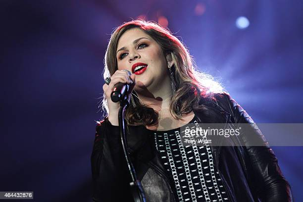Hillary Scott of Lady Antebellum performs during The Grand Ole Opry at CRS 2015 on February 25 2015 in Nashville Tennessee