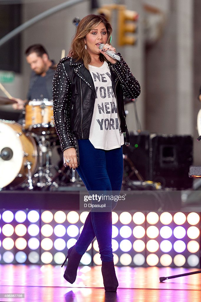 Hillary Scott of Lady Antebellum performs on NBC's 'Today' at Rockefeller Center on September 30 2014 in New York City