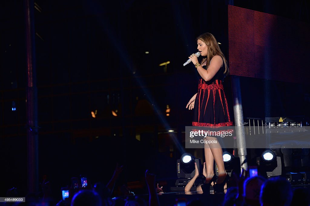 Hillary Scott of Lady Antebellum performs onstage at the 2014 CMT Music Awards Rehearsals Day 2 at Bridgestone Arena on June 3, 2014 in Nashville, Tennessee.